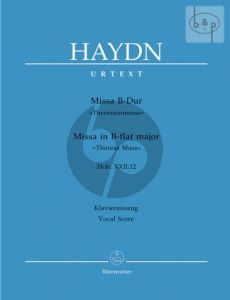 Missa B-dur (Theresienmesse) Hob.XXII:13 (Soli-Choir-Orch.) (Vocal Score)