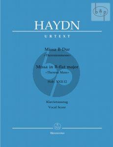 Missa B-dur (Theresienmesse) Hob.XXII:13 (Soli-Choir-Orch.) (Vocal Score)