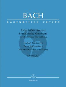 Bach Italienisches Konzert BWV 971/Französische Ouverture BWV 831 Klavier