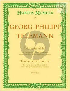 Trio Sonata e-minor TWV 42:e6 (Treble Rec. [Fl./Vi.]- Oboe [Fl./Vi.]-Bc)