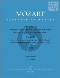Messias (Messiah) KV 572 (Soli-Choir-Orch.) (arr. W.A. Mozart) (Vocal Score) (edited by A.Holschneider)