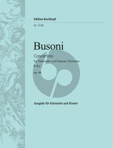 Busoni Concertino B-dur Op.48 (BV.267) Klarinette-kleines Orch.) (KA)