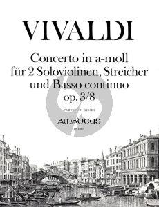 Vivaldi Concerto a-minor Op.3 No.8 (RV 522) (L'Estro Armonico) (2 Vi.-Str.-Bc) Partitur / Score (edited by Yvonne Morgan)