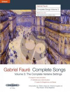 Faure Complete Songs Vol.3 (complete Verlaine settings) Medium/Low