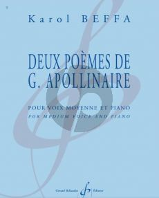 Beffa 2 Poemes de G. Apollinaire for Medium Voice and Piano (French)