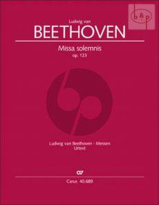 Missa Solemnis D-dur Op.123 (SATB soli-SATB- Orch.) (lat.)