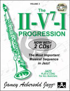 Aebersold Jazz Improvisation Vol.3 The II/V7 /I Progression for Any C, Eb, Bb, Bass Instrument or Voice - Beginner/Intermediate (Bk-2 Cd's)