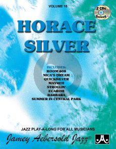 Silver Jazz Improvisation Vol.18 Horace Silver for Any C, Eb, Bb, Bass Instrument or Voice - Intermediate/Advanced (Bk-2 Cd's)