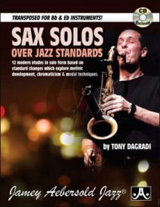 DaGradi Sax Solos over Jazz Standards Saxophone (Bk-Cd)