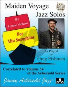 Maiden Voyage Jazz Solos Altosax Correlated to Aebersold Vol.54