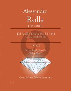 Rolla 131 Duets BI. 177 - 180 Volume 17 - 2 Violins (Prepared and Edited by Galen Kaup) (Urtext)