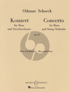 Concerto Op.65 Horn-Orchestra (Reduction Horn-Piano)