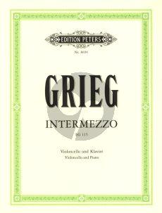 Grieg Intermezzo EG 115 Violoncello und Klavierr (1866) (Finn Benestad)