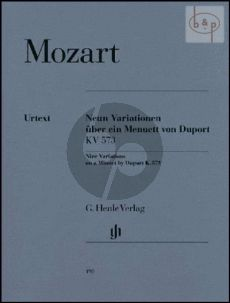 9 Variations on a Minuet by Duport KV 573