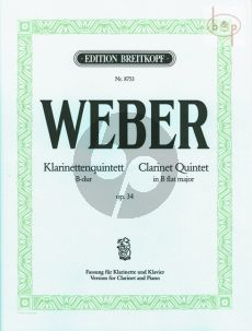 Klarinettenquintett B-dur Op.34