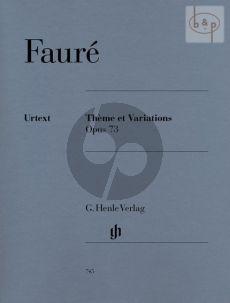 Theme et Variations Opus 73 Piano