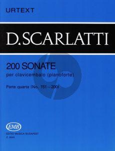 Scarlatti 200 Sonatas Vol.4 Harpsichord (Urtext) (edited by G.Balla)