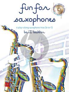 Fun for 3 Alto Sax. (6 Trios) (Bk-Cd)