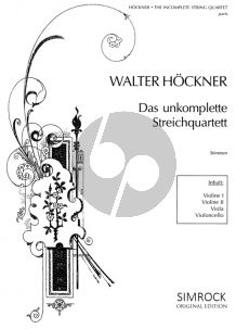 Album The Incomplete String Quartet (Duets and Trios) (2 - 4 Strings) (Parts) (edited by Walter Hoeckner)