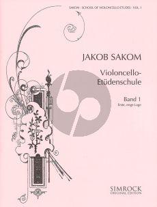 Sakom School of Violoncello Etudes Vol.1 (1st Close Position)