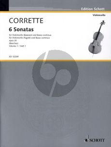 Corrette Les Delices de la Solitude 6 Sonatas Op.20 Vol.1 No.1-3 Violoncello[Fagott] und Bc (Herausgegeben von Gwilym Beechey)