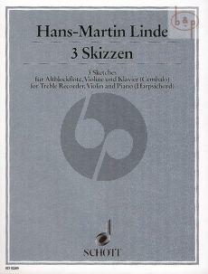 3 Skizzen (Treble Rec.-Vi.-Piano)