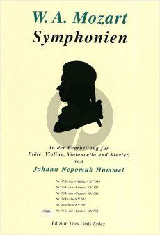 Mozart Symphonie KV 551 C-dur (Jupiter) (bearb.J.N.Hummel) (Part./St.)