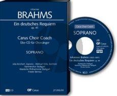 Brahms Ein deutsches Requiem Op. 45 Bass Chorstimme CD (Carus Choir Coach)