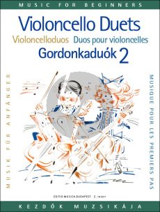 Album Violoncello Duets for Beginners Vol. 2 for 2 Cellos (edited by Arpad Pejtsik)
