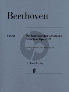 Beethoven Alla Ingharese quasi un Capriccio Op. 129 Klavier (Die Wut über den verlorenen Groschen) (Otto von Irmer)