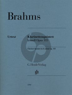 Brahms Clarinet Quintet b minor op. 115 for Clarinet (A) Parts (2 Violins Viola and Violoncello) (editor Kathrin Kirsch)