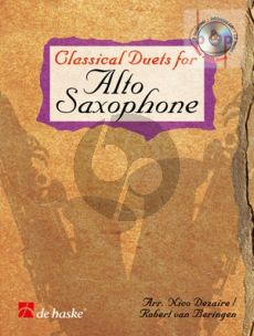 Classical Duets for Alto Saxophone (Bk-Cd) (Dezaire-Beringen) (A Journey through the History of Classical Music)