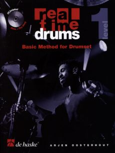 Oosterhout Real Time Drums Vol.1 (English Edition) (Basic Method for Drumset) (Bk-Cd)