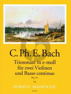 Bach Triosonate e-minor WQ 155 2 Violins-Bc (edited by B.Pauler) (Continuo by Andreas Kohn) (Score/Parts)
