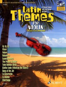 Latin Themes for Violin (12 Vibrant Themes) (Book-CD with Full Performance-Play-Along- Piano part to print)