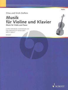 Doflein Musik Vol.2 Violine und Klavier (Easy Pieces in Various Styles)