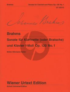Brahms Sonate f-moll Op.120 No.1 for Clarinet or Viola and Piano