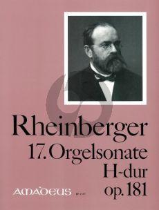 Rheinberger Sonate No.17 H-dur Opus 181 Orgel (Bernhard Billeter)