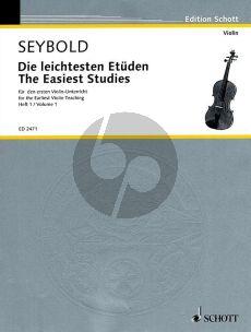 Seybold Die Leichtesten Etuden fur den ersten Violin-Unterricht Vol.1 (The easiest studies for the firts violin lesspns)