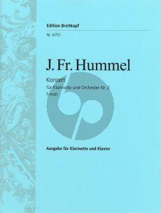 Hummel Konzert No.2 f-moll Klarinette-Orchester (KA) (Ulrich Haverkampf)