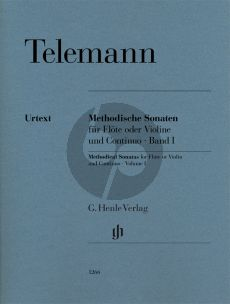 Telemann Methodische Sonaten Vol.1 Flöte (oder Violine) und Continuo (ed. Wolfgang Kostujak) (Henle-Urtext)