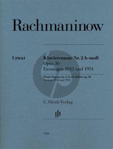Rachmaninoff Piano Sonata no.2 b flat minor op.36