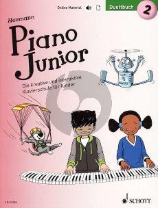 Heumann Piano Junior: Duettbuch 2 (Die kreative und interaktive Klavierschule für Kinder) (Book with Audio online) (german edition)