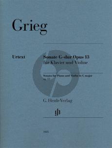 Grieg Sonate G-dur Op. 13 Violine und Klavier (Ernst-Günter Heinemann und Einar Steen-Nokleberg)
