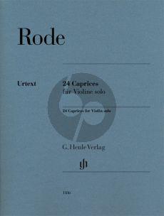Rode 24 Caprices Violin Solo (Henle-Urtext) (editor Norbert Gretsch and additional markings Eichhorn Friedemann)