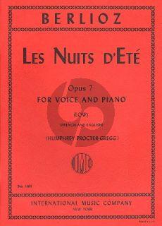 Berlioz Les Nuits d'Ete op.7 Low