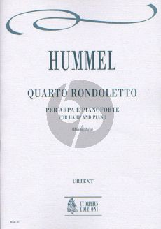 Hummel Rondoletto No.4 Harp and Piano (Score/Parts) (Roberto Illiano and Luca Lévi Sala)