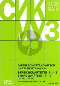 Streichquartette No.11 - 12 Studienpartitur