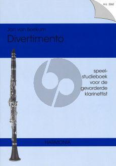 Beekum Divertimento (Studieboek gevorderde Klarinettist)