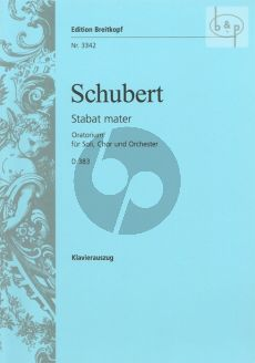 Stabat Mater D.383 f-minor (STB soli-SATB- Orch.) (Vocal Score)